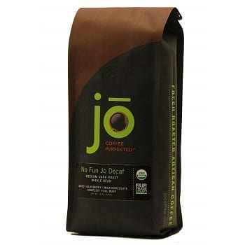 No Fun Jo Organic Decaf Coffee, Swiss Water Process