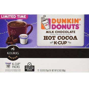 Dunkin Donuts Milk Chocolate Hot Cocoa K-Cups