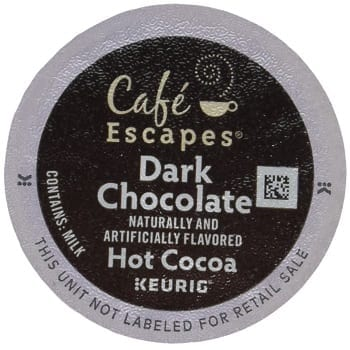 Café Escapes Hot Cocoa Dark Chocolate K-Cup