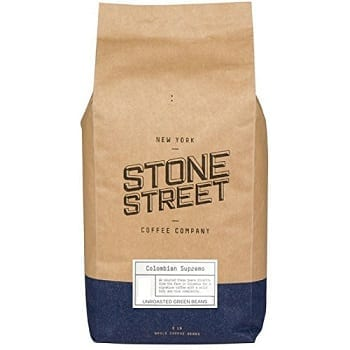 Stone Street Coffee Unroasted Green Raw Coffee Beans