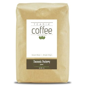 Teasia Coffee Tanzania Peaberry Green Unroasted Coffee Beans