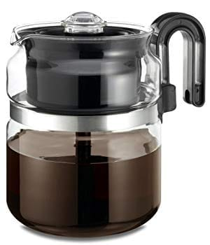 Café Brew Collection Stovetop Percolator Glass Coffee Pots