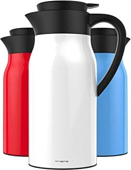 VREMI COFFEE CARAFE - THERMOS LARGE TRAVEL BOTTLE STAINLESS STEEL VACUUM