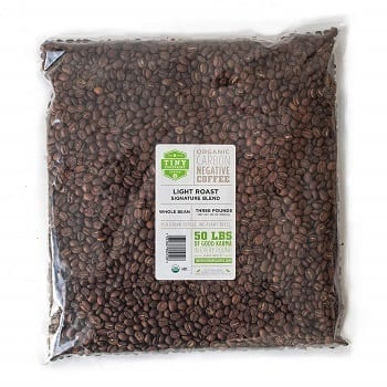 Tiny Footprint Coffee Organic Signature Blend Light Roast Whole Bean Coffee