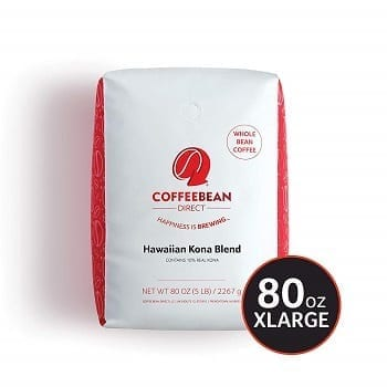 Coffee Bean Direct Hawaiian Kona Blend Whole Bean Coffee