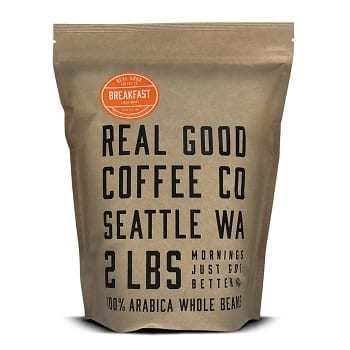 Real Good Coffee Co Breakfast Blend Light Roast Whole Bean Coffee
