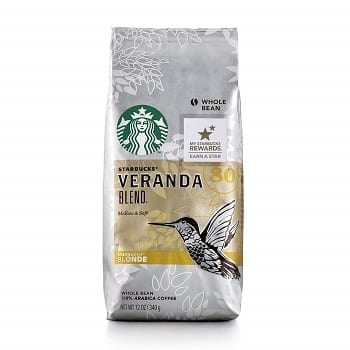 Starbucks Veranda Blend Light Blonde Roast Whole Bean Coffee