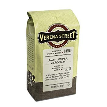 Verena Street Shot Tower Espresso Whole Bean Coffee