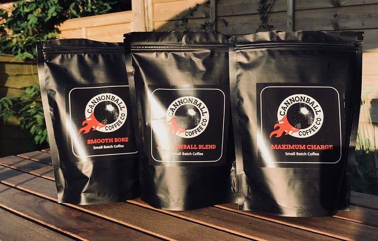 packages of cannonball coffee