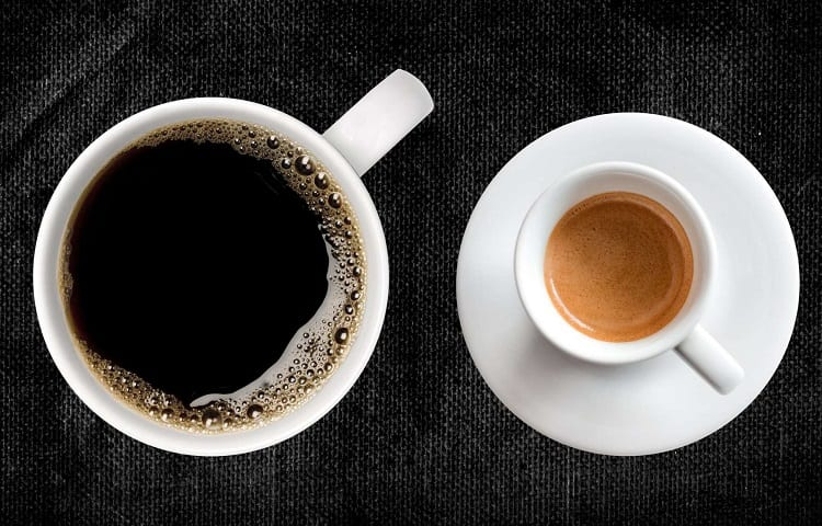 difference between americano and espresso