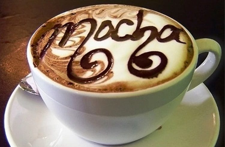 cup of mocha coffee
