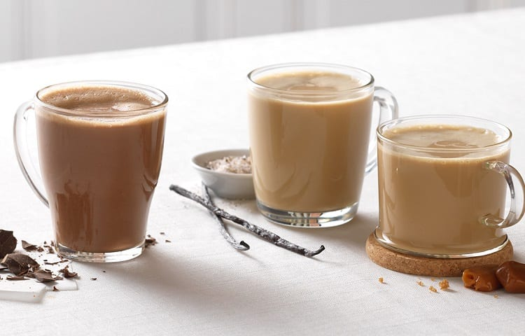 cups of creamy latte